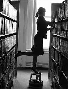 Vanessa in her library