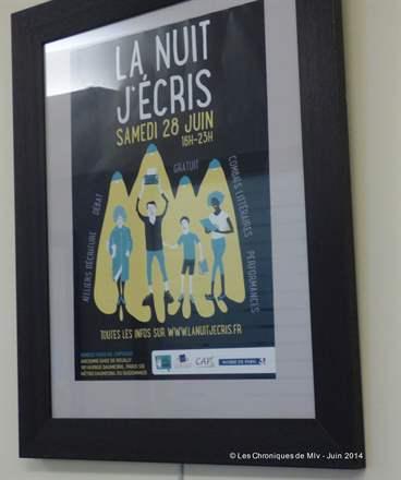La Nuit, J'écris Édition 28 06 2014
